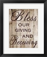 Framed Our Giving