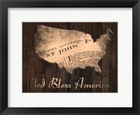 Framed God Bless America
