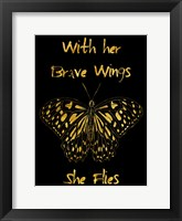 Framed Brave Wings