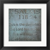 Framed Be Glad In It Psalms