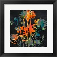 Framed Bright Garden 1