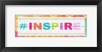 Framed Inspire Hashtag