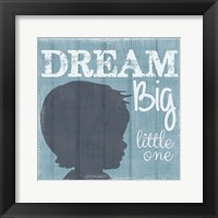 Dream Big Little One Boy Framed Print
