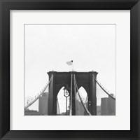Framed Brooklyn Bridge bw