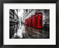 Framed London Phone Booths