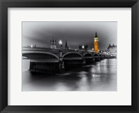Framed London Selective Bridge and Big Ben