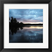 Framed Sunset Lake Pink 1