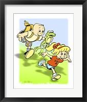 Framed Boy-Frog-Girl
