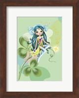 Framed Green Fairy