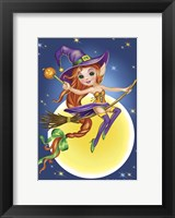 Framed Witch on a Broom