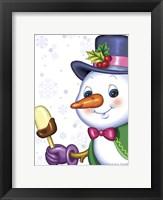 Framed Snowman and Ice-cream