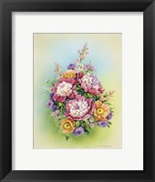 Framed Bouquet with Peonies