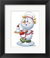 Framed Snowman Cook