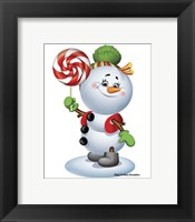 Framed Snowman With Candy