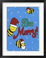 Framed Bee Merry