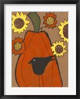 Framed Primitive Pumpkin