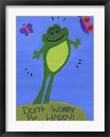 Framed Don't Worry Be Hoppy!