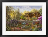 Framed Cottage Garden in Full Bloom