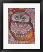 Framed Gold Honew Owl