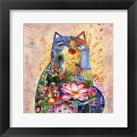 Framed Lotus Cat