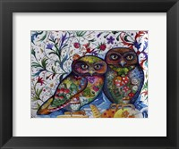 Framed Middle Ages Owls
