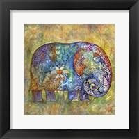 Framed Runes Elephant