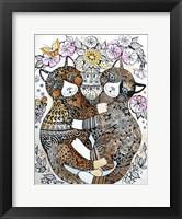 Framed 2 Garden Cats