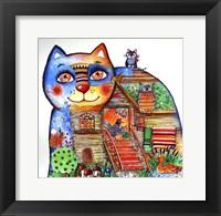 Framed Russian Tale Cat