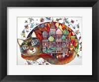 Framed Red Cat
