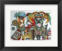 Framed Chihuahua and Pitbull in Mexico