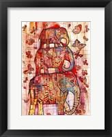Framed Three Elephants