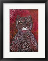 Framed Red Cat