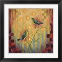 Framed Birds Sunset