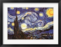 Framed Starry Night, c.1889