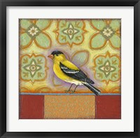 Framed Yellow Bird 1