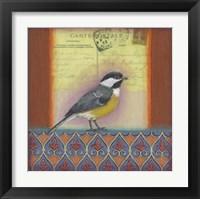Framed Carte Postale Bird 10