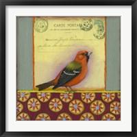 Framed Carte Postale Bird 12