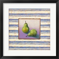 Framed Pears and Stripes