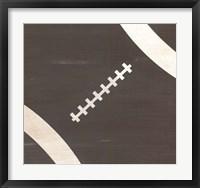 Framed Rustic Football