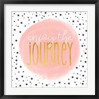Framed Enjoy the Journey - Blush Pink