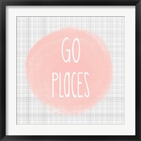 Framed Go Places - Blush Pink
