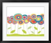 Framed Lollipop Flower Field