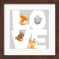 Framed Woodland Love