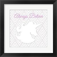 Framed Unicorn I