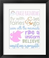 Framed Little Girl Typography