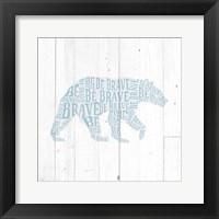Framed Bear Shiplap