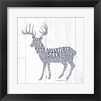 Framed Deer Shiplap