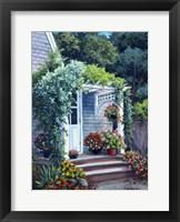 Framed Gray House Arbor