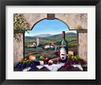 Framed Tuscany Vista