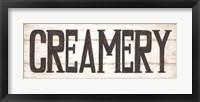 Creamery Framed Print
